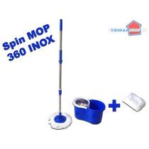 360 Spin Mop And Go Balde Rodo Mágico Sem Pedal Cor Azul