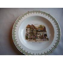 Prato Antigo De Porcelana Inglesa - Antiguidade