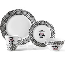 Aparelho De Jantar E Cafe Aleggro Milly Porcelana 16 Peças