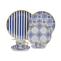 Aparelho De Jantar Lusitana Porcelana 42 Peças Oxford