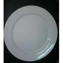 Prato Para Restaurante Branco Em Louça 25,5 Cm
