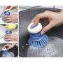 Escova,lavar Louça Sanitário Recipiente P/ Detergente 2pçs