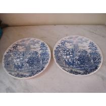#3683# Par Pratos Parede Porcelana Biona!!!