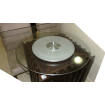 Prato Giratório 60cm C/ Vidro Temperado Frete Grátis Fondue