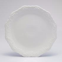 Jogo 6 Pratos Jantar Porcelana Alto Relevo 27 Wolff R 25087