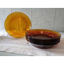 6 Pratos Para Sopa Em Vidro Duralex Antigo