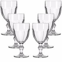 Jogo 6 Taças P/ Água Vinho Vidro Transparente Country 420ml