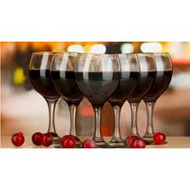 Conj De Taças 6 Pçs De Vidro Água/vinho Cap 260ml-mimo Style