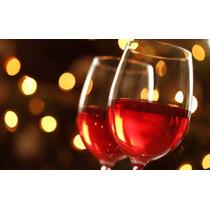 6 Taça De Vinho 500ml C/ Detalhe Vermelho Festas/restaurante
