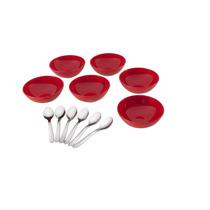 Conjunto Sobremesa 12 Peças Brinox Jornata - Vermelho