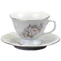 Conjunto 6 Xícaras Chá Com Pires Porcelana Schmidt Vitória