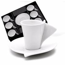 Jogo Com 6 Xícaras E Pires Lyon Para Café Wolff 1159