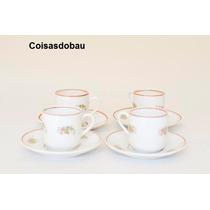Jogo 4 Xicaras Cafe Porcelana Real Decada 50 Cchic