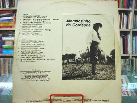 Lp - Alemãozinho Da Cordeona - 1979 - Me Casei À Alemoa