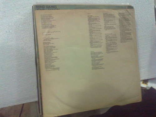 Lp - John Lennon - Mind Games