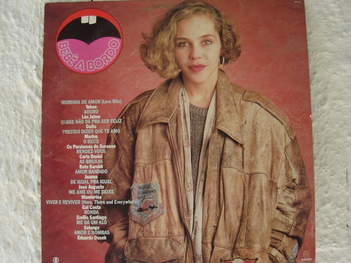Lp- Novela - Bebe A Bordo - Nacional - 1988