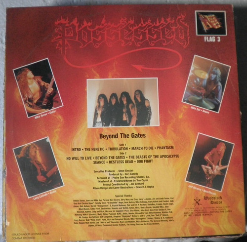 Lp Possessed - Beyond The Gates - Com Encarte