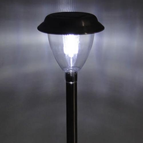 Luminária Solar Para Jardim 6 Peças Em Aço Inox Ec1120
