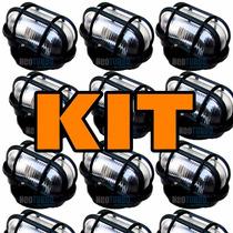 Kit 8 Luminária P/ Area Externa Tartaruga, Com Lampada Led