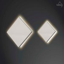 Arandela Interna Quadrada Alumínio - Parede Iluminação Sala