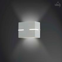 Arandela Interna Branca Quadrada - Parede Iluminação Sala