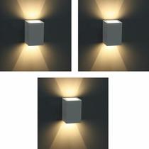3 Un. Luminária Balizador Arandela Facho Ext. Germany 15100