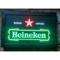 Painel Em Led Neon Heineken Budweiser - Coca Cola - Whiskey