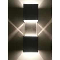 Arandela Parede Preta Interna E Externo Com Efeito De Luz