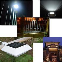 3 Luminárias Solar 4 Led Telhados Calhas Cercas Jardim Muro