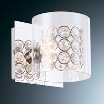 Luminária Arandela Cristal Llum Bronzearte Bijou 1 Luz G9