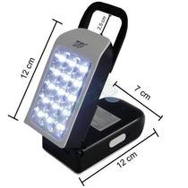 Luminária Luz Emergência Led Lanterna Multifunção Recarregav
