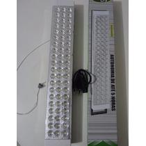 Luminária De Emergência Recarregável 60 Leds 127v E 220v