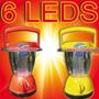Lanterna Lampião Luminária Solar A + Forte C/ 6 Leds + Dimer