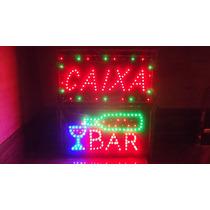 Letreiro Luminoso Em Led Placa Neon Escrito Caixa