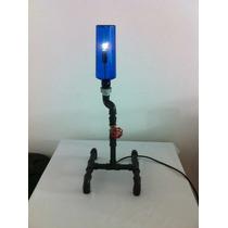 Luminaria Artesanal - Garrafas Em Conexoes Pvc
