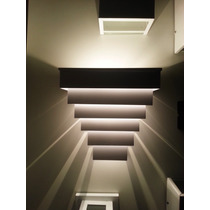 Arandela De Efeito Luminoso Uso Externo E Interno Alumínio