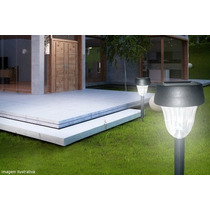 Luminária Solar Abs Luz Led Decorativa Jardim Gramado Pátio