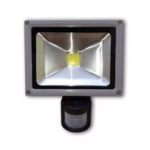 Refletor 20w Led Branco Frio Sensor De Presença Uso Externo