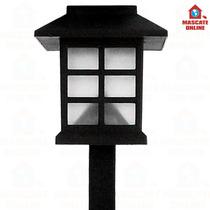 Luminária Solar Led Tipo Oriental Japonesa. Poste Luz Jardim