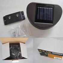 Luminária Jardim E Garagem - 8 Leds *** Energia Solar ***