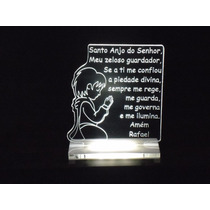 Luminária / Abajur Oração Anjo Da Guarda P/ Quarto Infantil