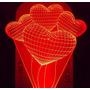 Luminária De Tomada Mini Automática, Balões Corações 3d *