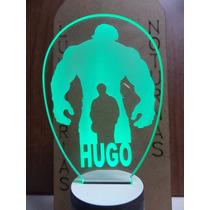 Lumínaria De Tomada Infantil, Silhueta Do Hulk Personalizado