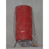 Mini Abajur Com Pé - Luminária De Cabeceira Vermelha.