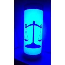 Luminária Abajur De Led Símbolo Direito Advocacia Justiça