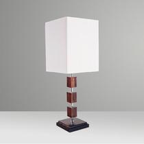 Abajur Luminária Madeira Cubo Rústico Para Sala - Gda