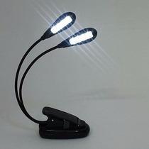 Luminária Leitura Flexível Com 8 Led Para Pc Livro Mesa Cama