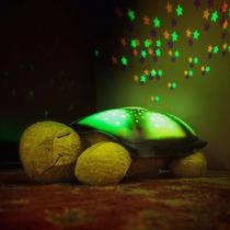 Luminaria De Estrelas Com Led Tartaruga Musica Luz E Som