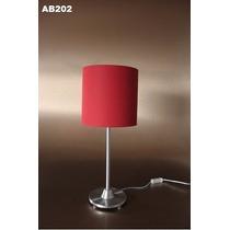 Abajur Decorativo 50x25cm Linho/preto/vermelho/branco