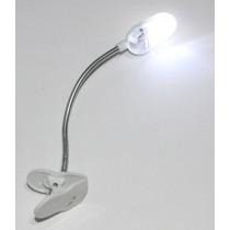 Luminária Flexível Leitura A Bateria Led Para Pc Livro Mesa